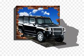 hummer h2 car hummer h3 3d painting 3d wall painting