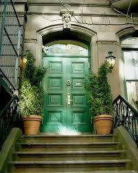 green front doorsGreen Front Doors Showcasing the Environment