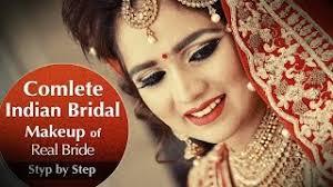 plete indian bridal makeup of real