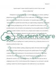 should students be expelled from school for cheating or   plagiarizing essay example text preview