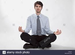 meditation businessman office. Businessman Doing Meditation, Portrait - Stock Image Meditation Office R