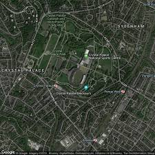 Abstract dinosaur models in london. Old Crystal Palace National Stadium Former Home To Crystal Palace Football Ground Map