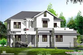style sloping roof villa design kerala home design and floor plans