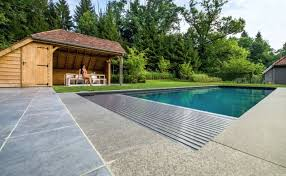 slatted covers are interlocking pvc or polycarbonate which can be installed in the pool underwater or on an above ground roller they float on the surface