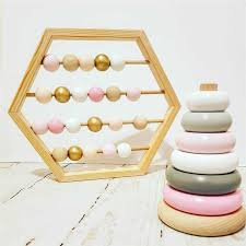 <b>New Nordic Style</b> Natural Wooden Abacus With beads Craft Baby ...