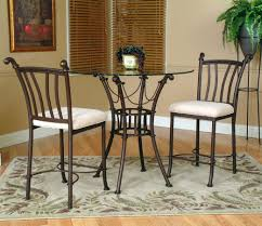 Cramco Inc Denali 3 Piece Counter Height Glass Table And Chair