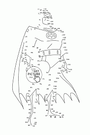 Batman Connect The Dots Coloring Pages For Kids Dot To Dots