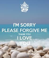 i m sorry please forgive me thank you i