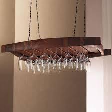 image of hanging oak wine glass rack 24 stem shrunk jpg