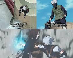 I can't help but imagine what Kakashi felt when he saw Sasuke attacking  Naruto with Chidori, the same jutsu he used to kill Rin. …   Naruto,  Kakashi, Kakashi hatake