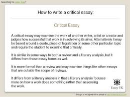 sample of critical analysis essay example of critical essay writing objective for resume medical