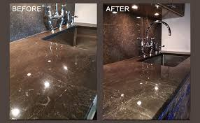marble etch removal stained marble countertop