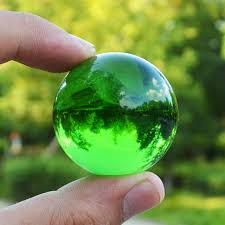 Decorative Marble Balls JQJ Green Crystal Sphere Ball Paperweights Home Feng shui 81