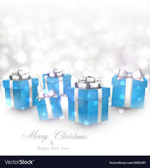 Gifts Background Winter Background With Blue Christmas Gifts