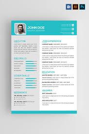 John Doe Resume Template Abstract 3d Design Resume Resume