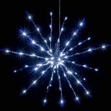 Nipach Gmbh 80 Led Meteor Stern Leuchtfarbe Weiß ø 40 Cm Für Innen Und Außen Mit Trafo Weihnachtsstern Zum Aufhängen Dekostern Weihnachtsdeko Xmas