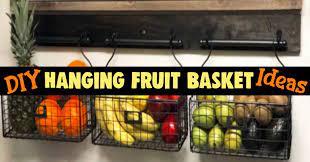 diy hanging fruit basket ideas and