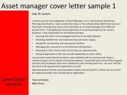 Brilliant Ideas Of Asset Manager Cover Letter With Cover Letter
