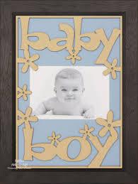 new baby boy gift wooden frame black wood blue