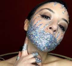 glitter up with plur festival makeup