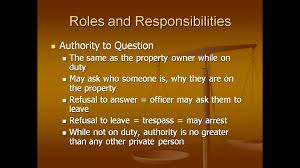 roles and responsibilities of a security officer