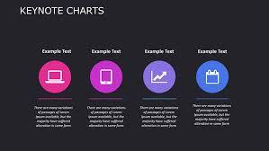 Dark Color Accessory Keynote Charts