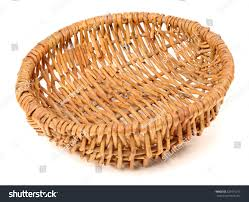 empty fruit basket. Contemporary Basket Empty Fruit Wicker Brown Basket Bowl Isolated Over The White Background And Fruit Basket O
