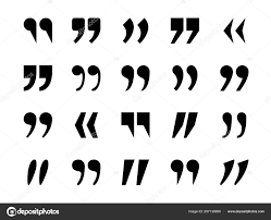 Punctuation Quotes Quotes Marks Quotation Marking Quote Mark Comma Double