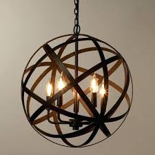 metal orb chandeliers metal orb chandelier awesome industrial style world market pendant light images large metal metal orb chandeliers