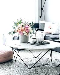 marble coffee table decor white with flowers and grey couch west elm canada