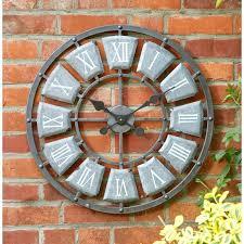 24 inch outdoor clock clocks marvellous large outdoor wall clocks inch outdoor clock grey wrought iron