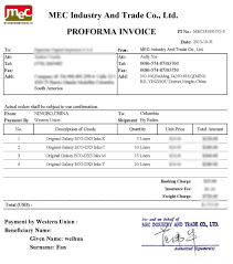 ups proforma invoice invoice template ideas ups proforma invoice mec131031co s original galaxy dx5 eco inks to allsign 1000 x 1131
