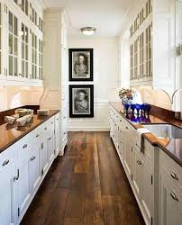 Long Narrow Luxury Design Ideas Pictures Luxury White Country Galley