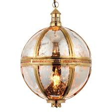 brass globe pendant light. Vienna Large Solid Brass And Mercury Glass Globe Pendant Light R