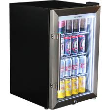 alfresco triple glazed tropical mini glass door refrigerator