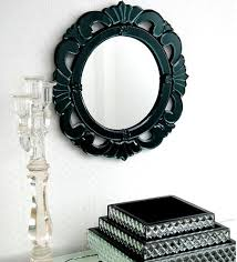strenus round wall mirror by venetian design