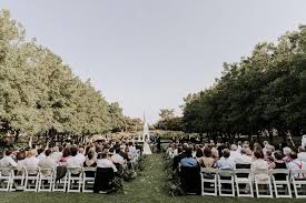 wedding ceremony at texas discovery gardens in dallas