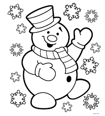 Free Preschool Christmas Coloring Pages Color Page Free Colouring