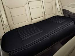 nonslip rear car seat cover breathable cushion pad mat for vehicle supplies with pu leather