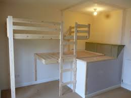 Built In Bed Designs Simplistic Oak Hand Made Bunk Bed With Stairs In Small Boys