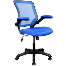 blue task chair. Techni Mobili Mesh Task Chair With Flip-Up Arms Blue