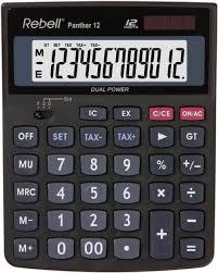 Rebell Re Panther 12 Bx Desktop Calculator 12 Digit