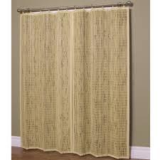 natural bamboo curtain panels for traditional interior furniture decor idea