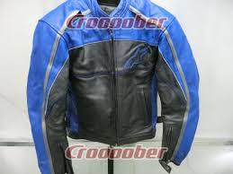 size m alpinestars leather jacket blue black