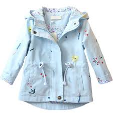<b>2018 New Spring Autumn</b> Girls Windbreaker Coat Baby <b>Kids</b> Flower ...