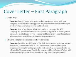 Awesome Collection Of Cover Letter Name Drop On Chic Design
