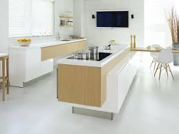 Porcelanosa Kitchen Cabinets Contemporary Kitchen Wood Veneer Island Lacquered G590