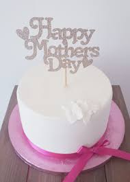 Kelsi Marsh Happy Mothers Day With Heart Light Gold Glitter Cake