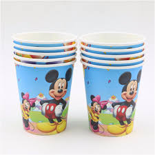 Decorating Plastic Tumblers Aliexpresscom Buy 51pcs Mickey Mouse Theme Kids Disposable