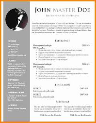 5 Cv Template Doc Word Theorynpractice